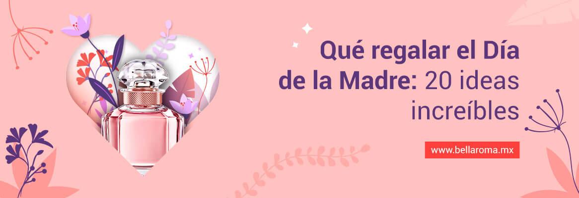 portada de corazon con perfumes e ideas de regalo para el día de la madre