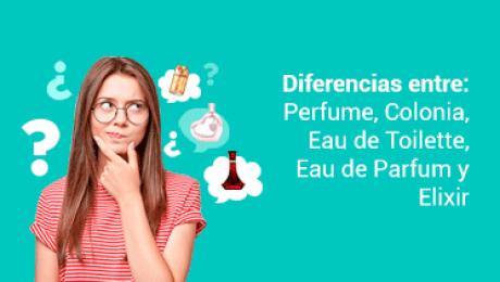diferencia entre perfume, agua de perfume, colonia y elixir