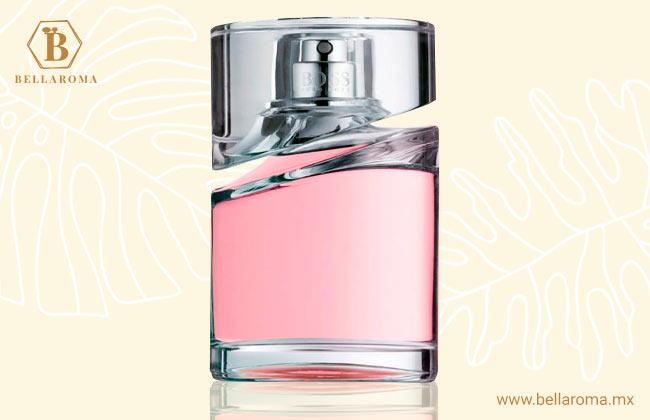 frasco de perfume hugo boss femme fondo tropical