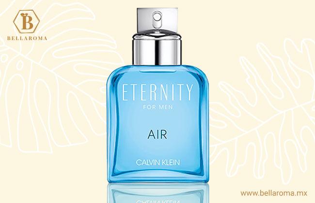 frasco del perfume para mujer calvin klein eternity air fondo tropical
