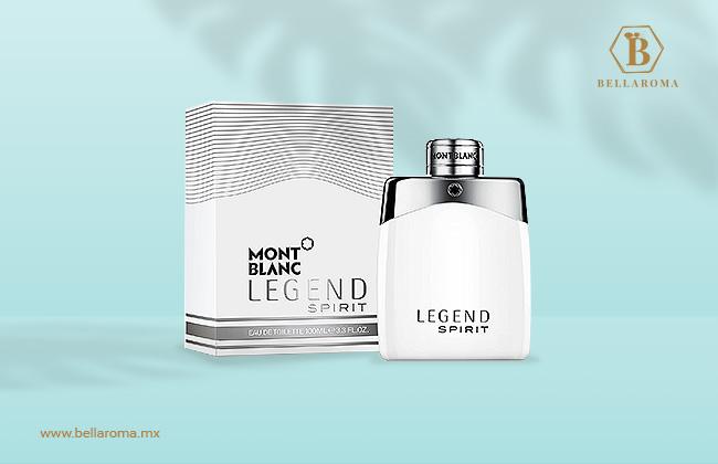 frasco y caja de perfume mont blanc legend spirit para hombre