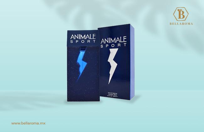 Caja y frasco de perfume fresco para hombre animale sport