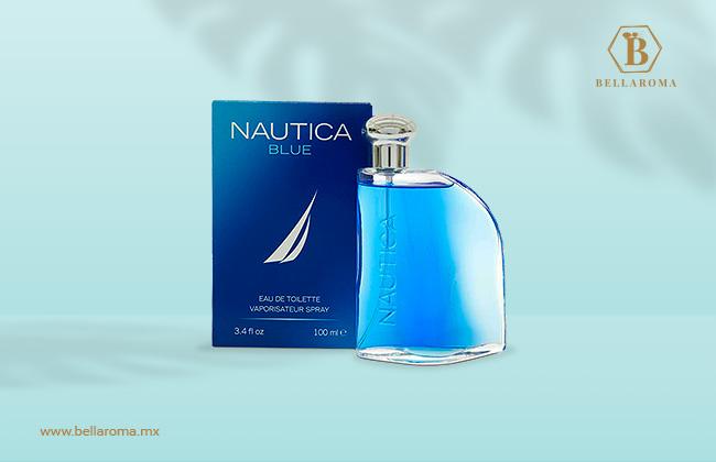 frasco y caja de perfume fresco para hombre náutica blue
