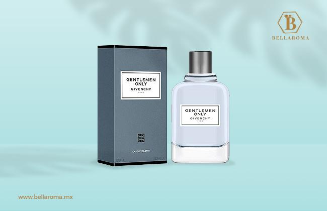 frasco y caja de perfume fresco givenchy only para hombre