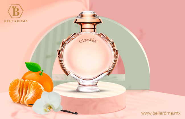 Frasco del perfume para mujer Olympea de Paco Rabanne